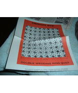 Laura Wheeler patterns  972 double wedding ring quilt 1980 - $6.97