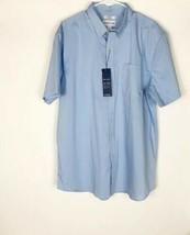 NWT Shirt Saddlebred Comfort Flex Casual Blue Short Sleeve Mens Size XL NEW - $29.21