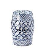 Accent Plus - Blue And White Ceramic Decorative Stool - $99.85