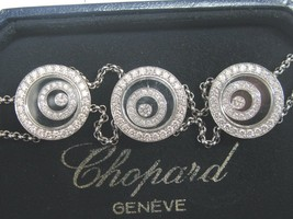 Chopard 18 Quilates Happy Spirit 3-Circular Brazalete Diamante - $16,579.52