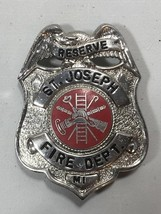 Vintage obsolete 1960s St Joseph MI Reserve Fire Department Badge - $59.99