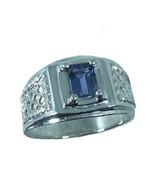 Tanzanite Silver Men's Ring, Free Professional Sizing - $79.00