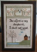 My Shepherd religious cross stitch chart Stitches Through Time  - $9.00