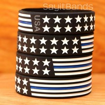 BOLD Child Wristbands Wider Flag Thin Blue Line Bracelet USA Design Brac... - $5.82+