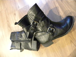 Motorcycle Style Ankle Boots - $10.00