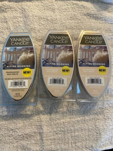 Primary image for 3 Packs of Yankee Candle Alpine Morning Wax Melts 18 CUBES!!