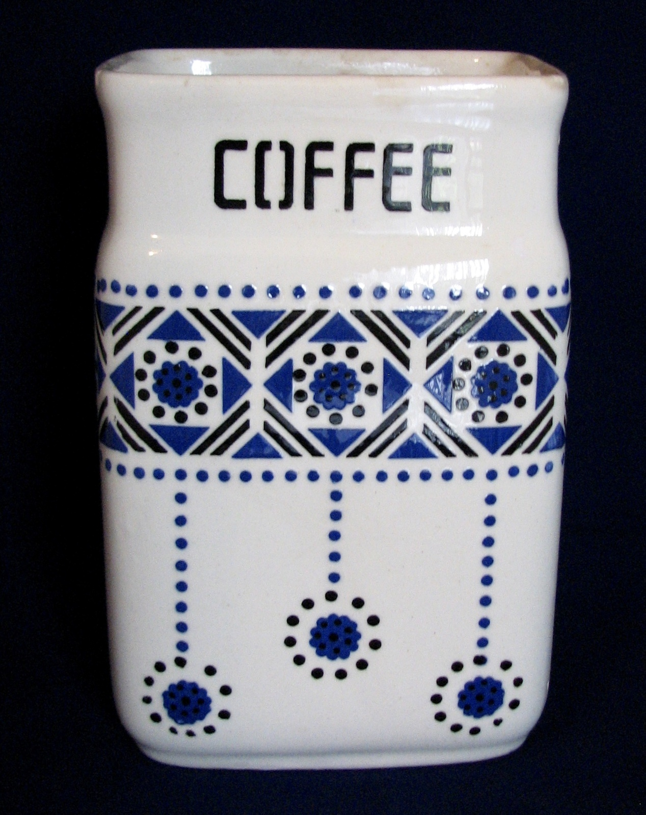 Vintage Canister Czech Coffee Single Spare Part Ceramic