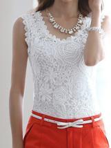 Floral Crochet Lace Tank Tops - $23.99