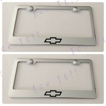 2X TrailBlazer Chevy Chevrolet Stainless Steel Black License Plate Frame