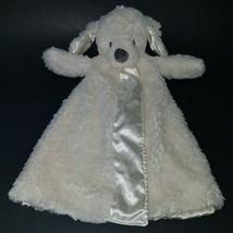 Baby Gund Fluffey Huggybuddy White Puppy Dog Lovey Plush Baby Toy Stuffed Animal - $14.80