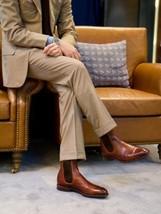 Handmade Men brown Chelsea leather boots, Men ankle leather boots, Men boots  - $179.99