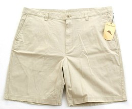 Tommy Bahama Tan Flat Front Cotton Stretch Casual Shorts Men's NWT - $74.99