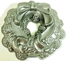 Nordic Ware Christmas Holiday Wreath Bundt Pan Cast Aluminum Nonstick - $17.95