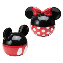Walt Disney Mickey & Minnie Ears Ceramic Salt and Pepper Shakers Set NEW... - $28.98