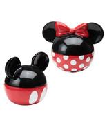 Walt Disney Mickey & Minnie Ears Ceramic Salt and Pepper Shakers Set NEW... - $28.98