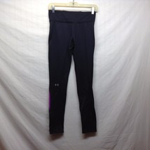 Black Purple Under Armour Cold Gear Stretchy Workout Pants Sz SM/P