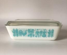 Pyrex Refrigerator Dish Container Butterprint Amish Milk Glass Americana... - $42.06