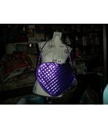 JUSTIN BIEBER  Poppin Purple Metallic Heart Purse NWT - $14.85