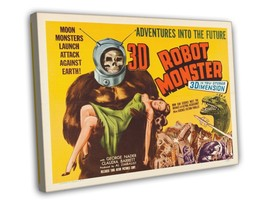 Robot Monster 1953 Vintage Movie FRAMED CANVAS Print 2 - $19.95+