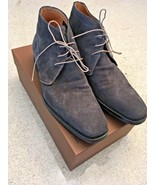 Men's Harris Calzoleria Gray Suede Lace Up Ankle Boots (10M) - $233.75