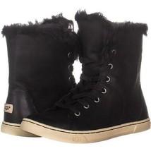 Ugg Australia Croft pelle di Pecora con Lacci Sneaker Alla Moda 238, Nero, - $103.19