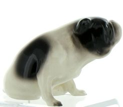 Hagen Renaker Pedigree Dog Bulldog Black and White Ceramic Figurine image 9
