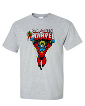 Captain Marvel T shirt vintage comic book superhero 100% cotton graphic tee image 2