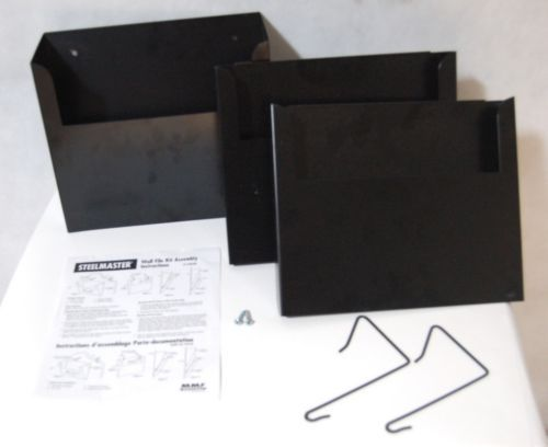 MMF Industries Wall File Three Pocket Kit Letter Size Black Brand New