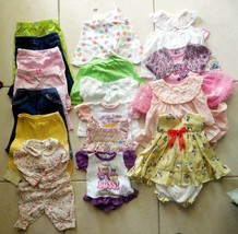 BABY Girls Lot 17 Carters-Kidget-Children's Place See Desc. 0-9M NO STAINS - $31.49