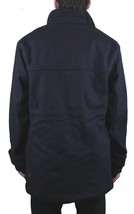 Diamond Supply Co. Long Melton Wool diamond Duffle duffle Navy Coat NWT image 2