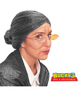 Old Lady Maid Adult Grey Costume Wig Grandma Disguise Dress Up Halloween... - $19.78