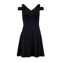 Calvin Klein Women's V-Neck Off Shoulder Dress, Black, 6 - $38.80