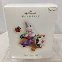 2008 Santa's Sweet Ride #2  Hallmark Christmas Tree Ornament MIB Price Tag H2 - $28.22