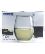Luminarc Clear Stemless Wine Glasses - Set of 12 - 15 Oz Glasses Made in... - $17.63