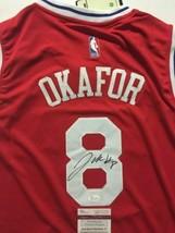 Autographed/Signed JAHLIL OKAFOR Philadelphia Red Basketball Jersey JSA ... - $99.99