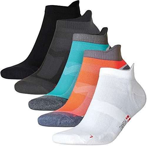 Low-Cut Pro Running Socks Multicolor 1 x Caribbean Blue, 2 x Black, 2 x White 5
