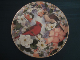 CARDINALS IN THE BLOSSOMS collector plate Theresa Politowicz SONGBIRD - $29.95