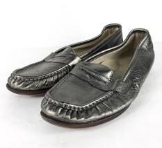 SAS Women Metallic Green Silver Tripad Comfort Shoes Slip-on Loafer Shoe... - $24.74