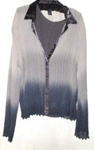 SHADES OF GRAY TWO LOOK TANK/BUTTON DOWN TOP SIZE XL - $7.00