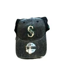 NWT New Seattle Mariners New Era 9Twenty Washed Logo Trucker Adjustable Hat - £15.57 GBP