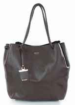 DKNY Donna Karan Dark Brown Leather Shoulder Bag Medium Handbag RRP £315 - $252.23