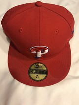 Team Philadephia Phillies MLB Cap size 7 1/2  New Era 59Fifty Red New wi... - $37.99