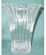 1930s Glass Old Cafe Vase Depression Clear Anchor Hocking - $20.00