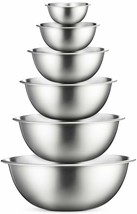 Premium Stainless Steel Mixing Bowls (Set of 6) Stainless Steel Mixing B... - $36.62