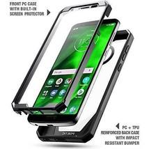 Moto G6 Case Full Body Rugged Hybrid Scratch Resistant BuiltinScreen Bla... - $29.79