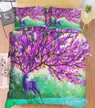 3D Deer Tree 09 Bed Pillowcases Quilt Duvet Cover Set Single Queen King ... - $64.32+
