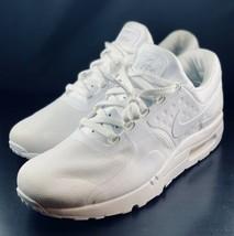 NEW Nike Air Max Zero Essential Triple White Shoes 876070-100 Sz 10.5 NO... - $128.69