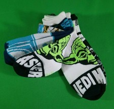 Disney Star Wars No Show Kids Socks 3 Pack Size 9-11 With COOL NEON Green Yoda - $9.56