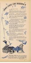 1942 KOTEX teen & Record Player Some Days I'm Happy Print Ad  - $9.99