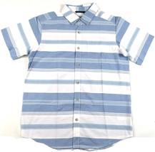 Men's Shirt Columbia SS Thompson Hill Yarn Dye Button Woven Super Blue Stripe